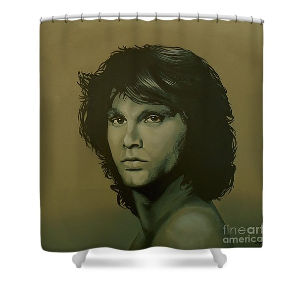 Jim Morrison Painting Shower Curtain