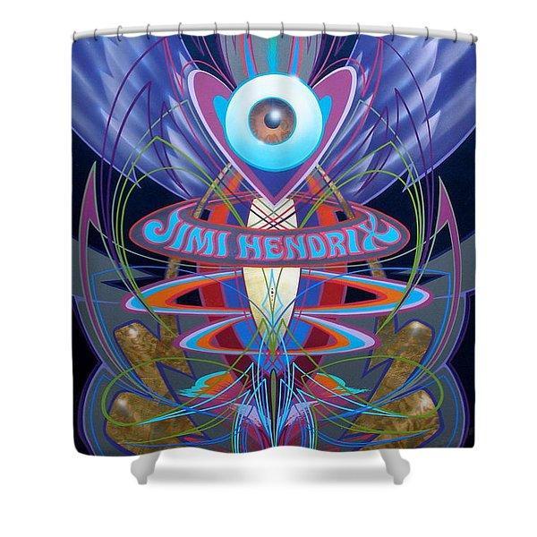 Jimi Hendrix Memorial Shower Curtain