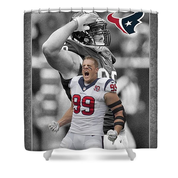 Jj Watt Texans Shower Curtain