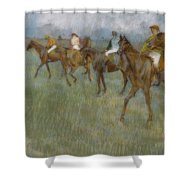 Jockeys In The Rain, 1886 Shower Curtain