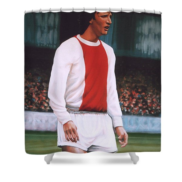 Johan Cruijff  Shower Curtain