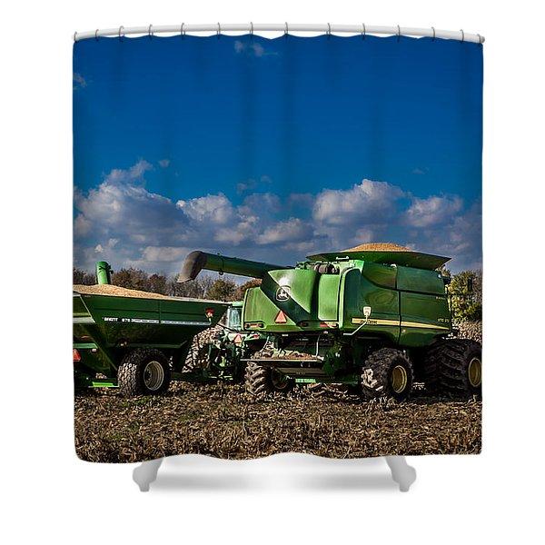 John Deere Combine 9770 Shower Curtain