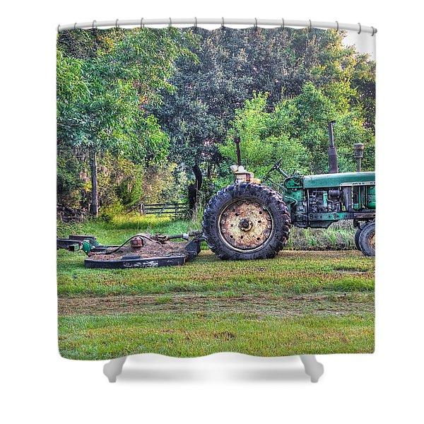 John Deere - Work Day Shower Curtain