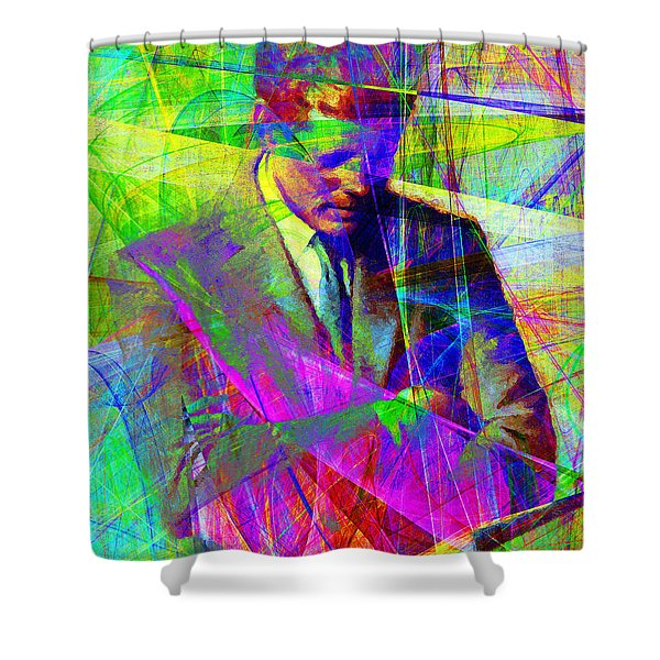 John Fitzgerald Kennedy Jfk In Abstract 20130610v2 Shower Curtain