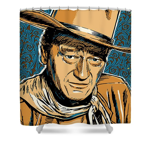John Wayne Pop Art Shower Curtain