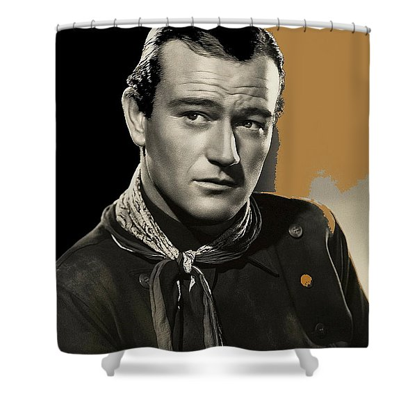 John Wayne  Publicity Photo In Costume Stagecoach 1939-2009 Shower Curtain