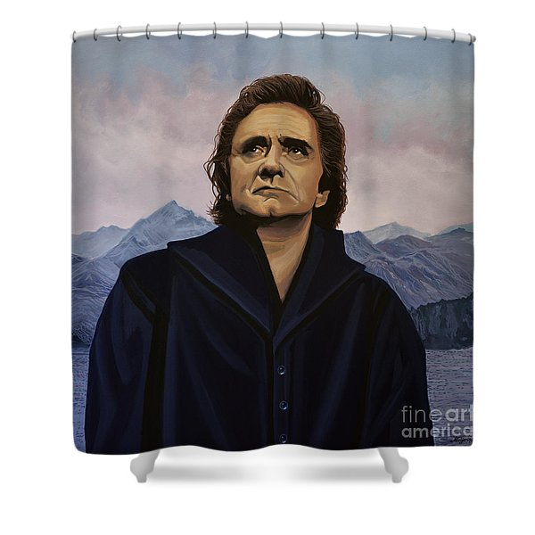 Johnny Cash Painting Shower Curtain