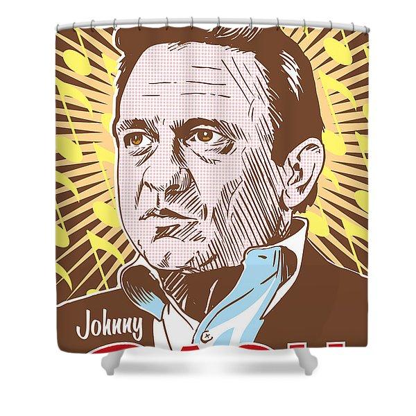 Johnny Cash Pop Art Shower Curtain