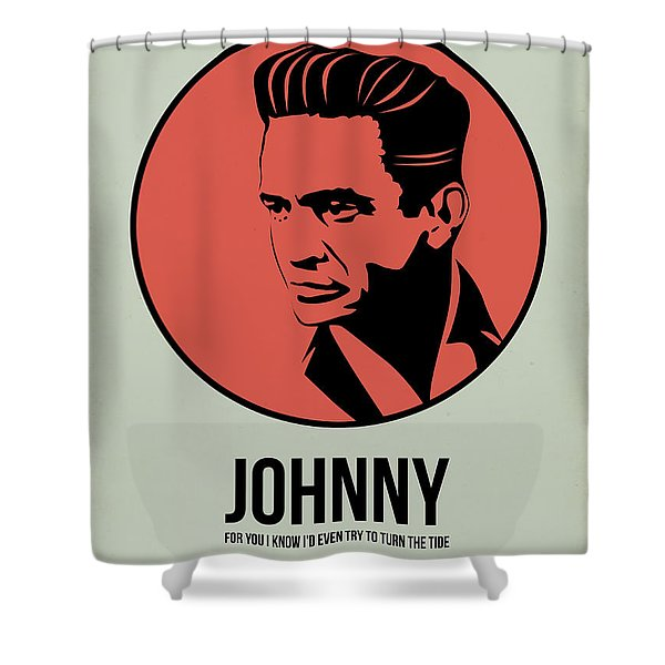 Johnny Poster 2 Shower Curtain
