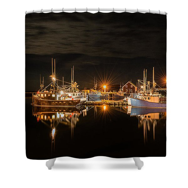Shower Curtain featuring the photograph John's Cove Reflections - Revisited by Garvin Hunter