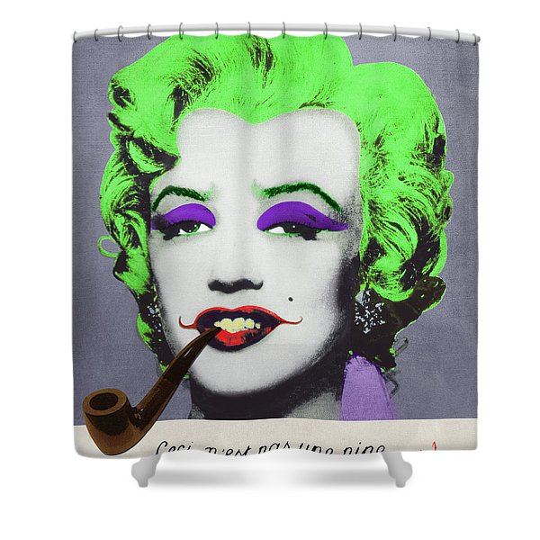 Joker Marilyn With Surreal Pipe Shower Curtain