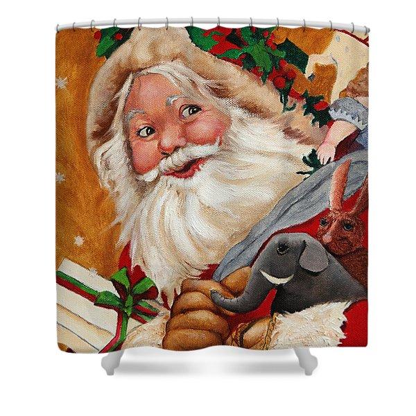 Jolly Santa Shower Curtain