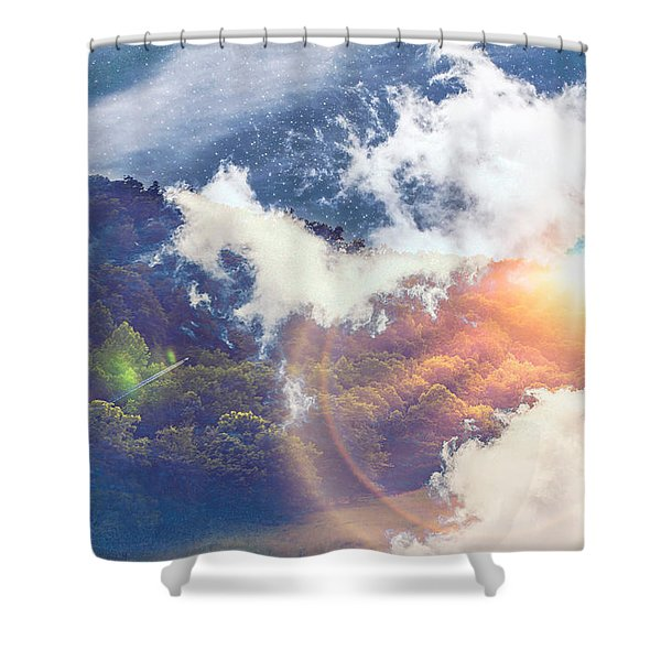 Journey To Another Dimension Shower Curtain
