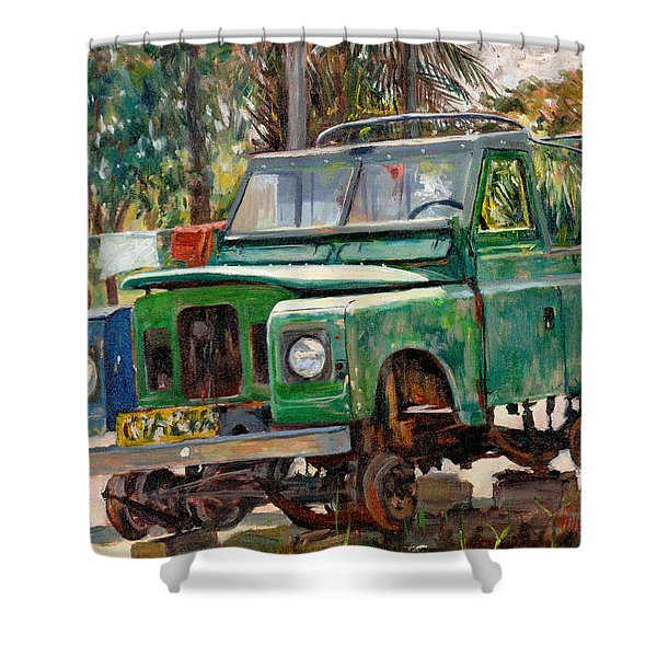 Journeys End, 2006 Oil On Canvas Shower Curtain