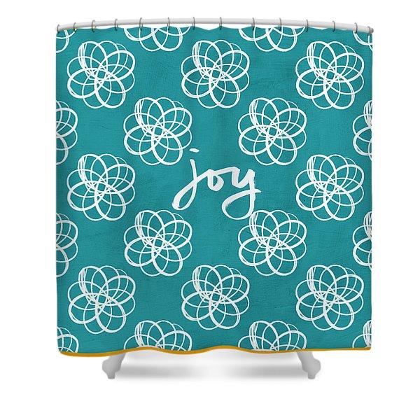 Joy Boho Floral Print Shower Curtain