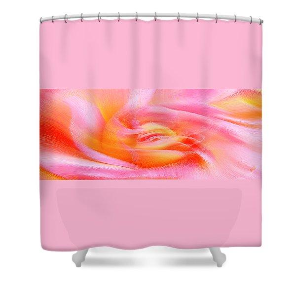 Joy - Rose Shower Curtain