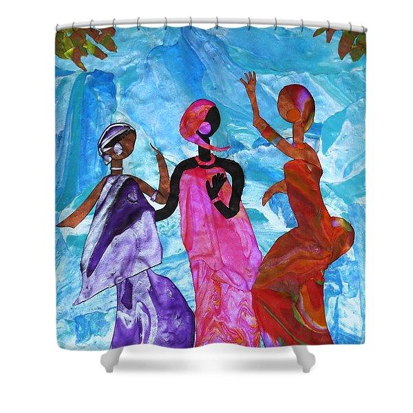 Joyful Celebration Shower Curtain