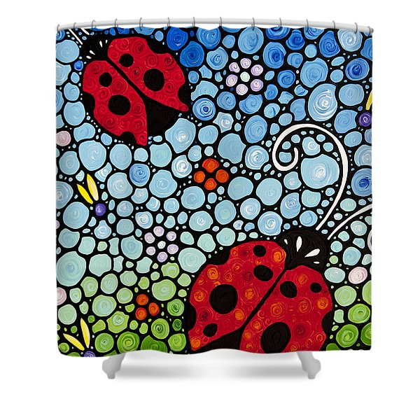 Joyous Ladies Ladybugs Shower Curtain