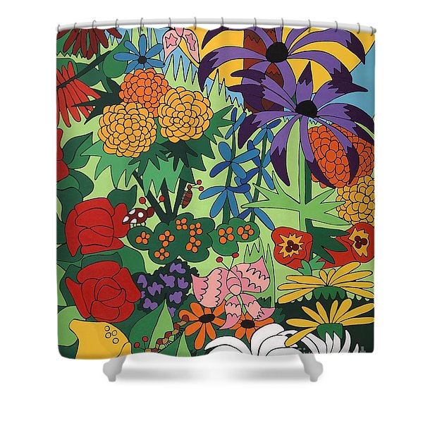 July Garden Shower Curtain