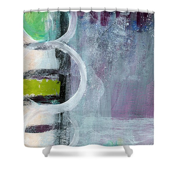Junction- Abstract Expressionist Art Shower Curtain