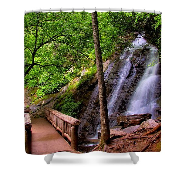 Juney Whank Falls Shower Curtain