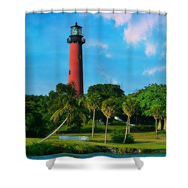 Jupiter Florida Lighthouse Shower Curtain