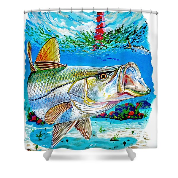 Jupiter Snook Shower Curtain
