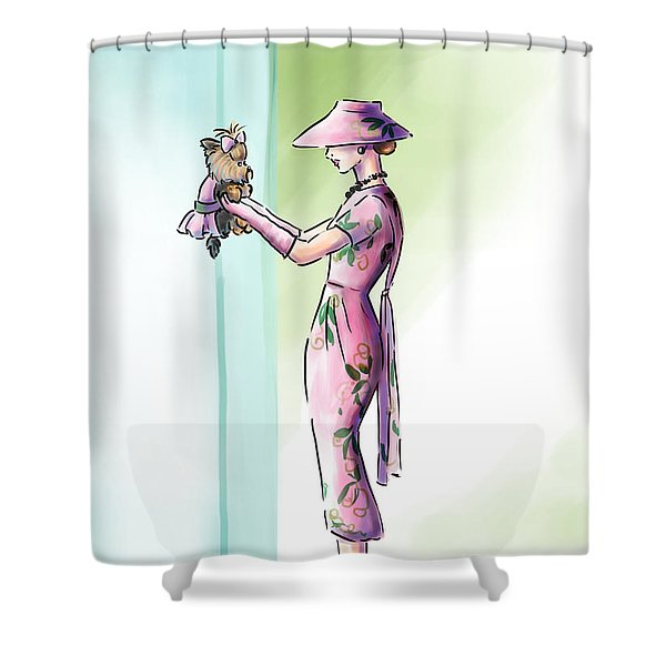 Just Like Mommy Shower Curtain