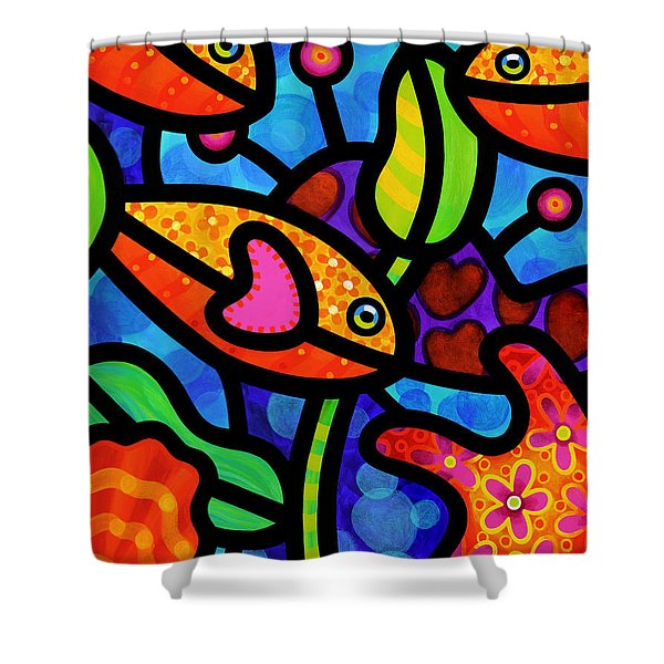 Kaleidoscope Reef Shower Curtain