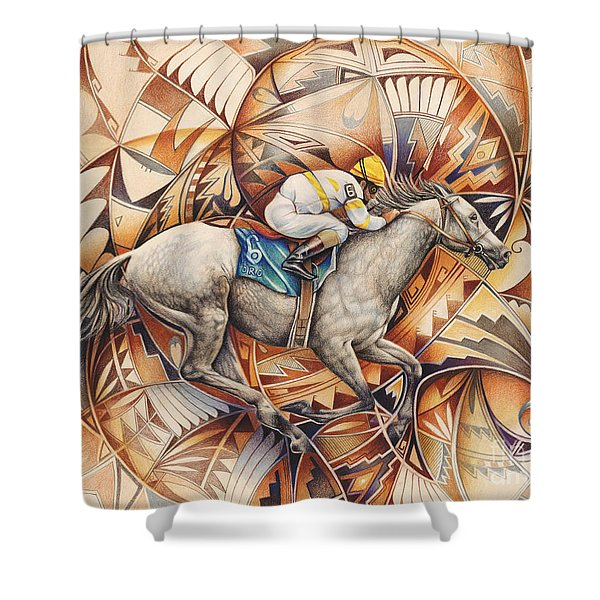 Kaleidoscope Rider Shower Curtain