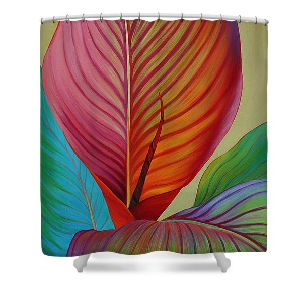 Shower Curtain featuring the painting Kaleidoscope by Sandi Whetzel