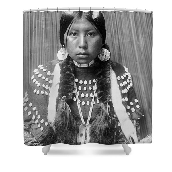 Kalispel Indian Woman Circa 1910 Shower Curtain