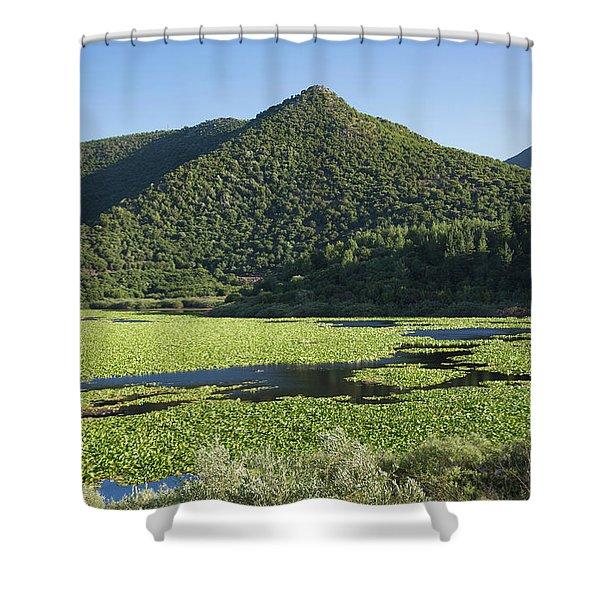 Kalodikiou, Or Kalodiki Lake Shower Curtain