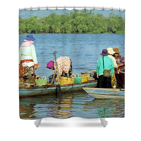 Kampot River Shower Curtain