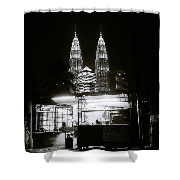 Kampung Baru Night Shower Curtain