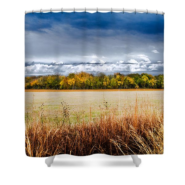 Kansas Fall Landscape Shower Curtain