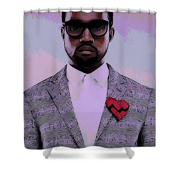 Kanye West Poster Shower Curtain