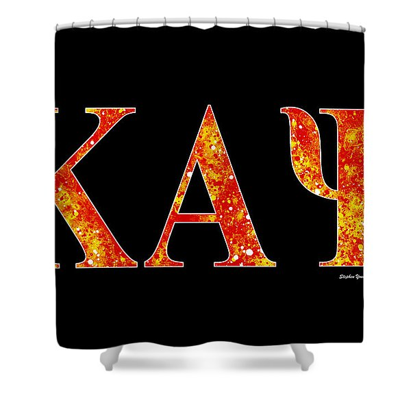Kappa Alpha Psi - Black Shower Curtain