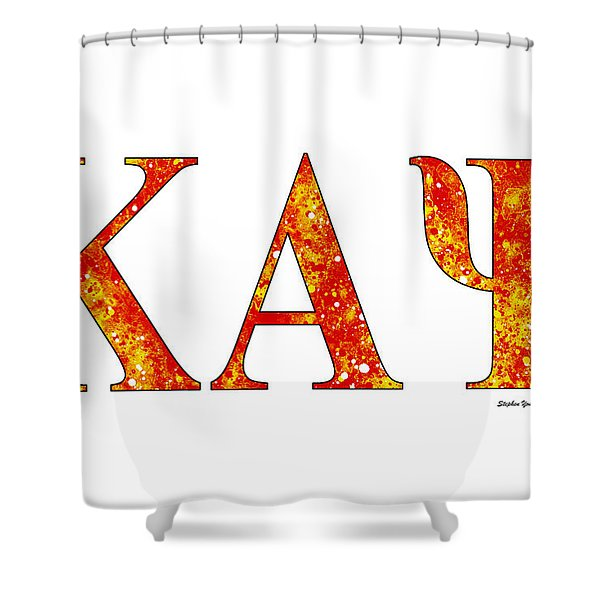Kappa Alpha Psi - White Shower Curtain