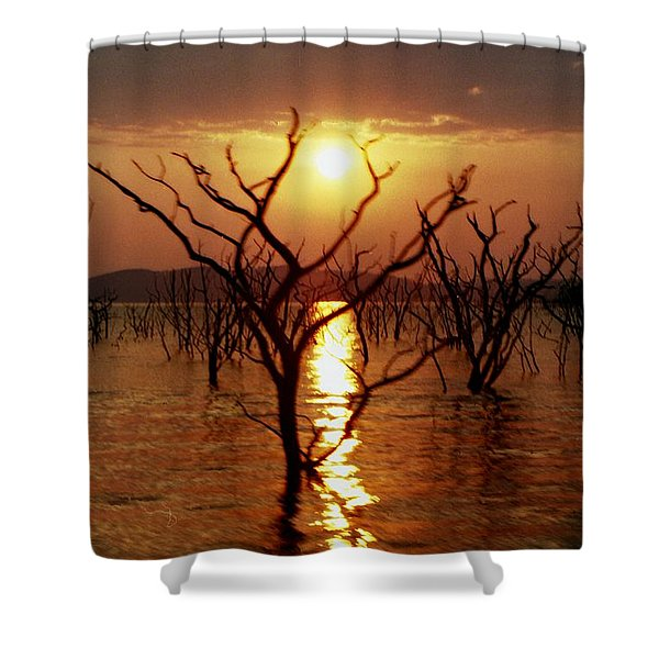 Shower Curtain featuring the photograph Kariba Sunset by Jeremy Hayden