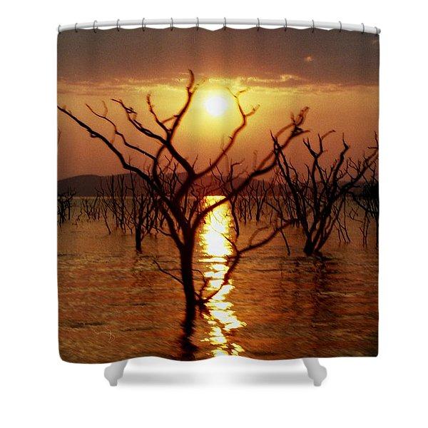 Kariba Sunset Shower Curtain