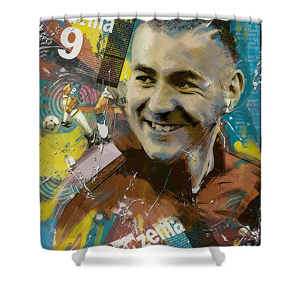 Karim Benzema - B Shower Curtain