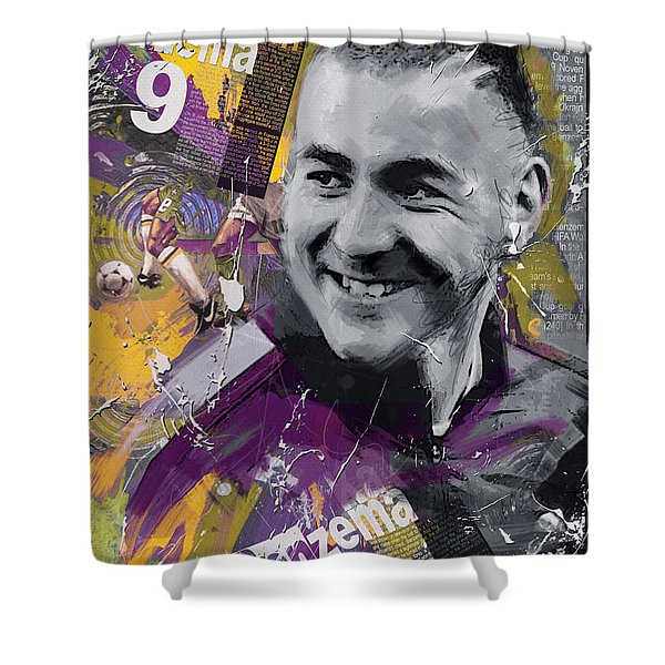 Karim Benzema - C Shower Curtain