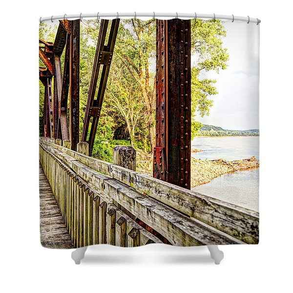 Katy Trail Near Coopers Landing Shower Curtain