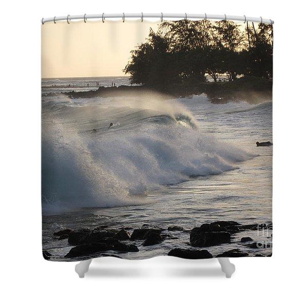 Kauai - Brenecke Beach Surf Shower Curtain
