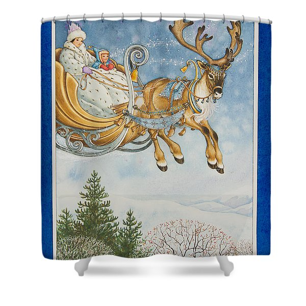 Kay And The Snow Queen Shower Curtain