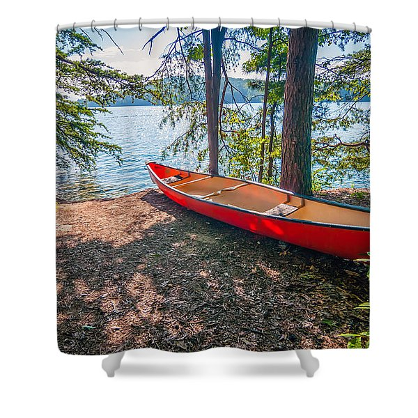 Kayak By The Water Shower Curtain