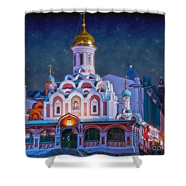 Kazan Cathedral. Red Square. Moscow Russia Shower Curtain