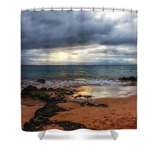 Keawakapu Sunset Shower Curtain