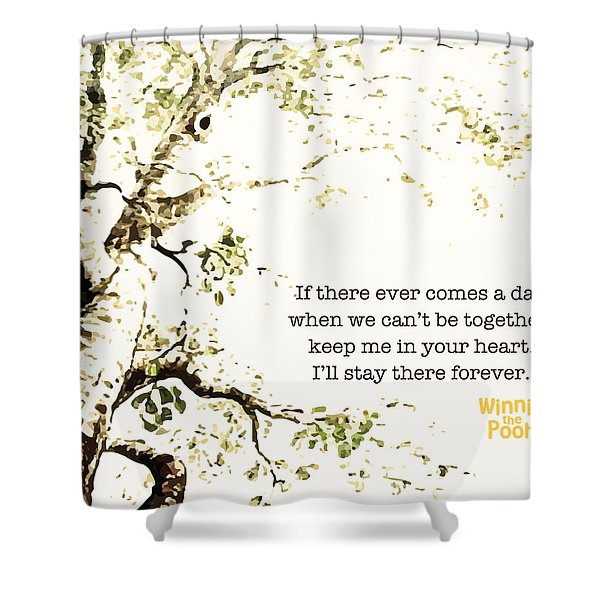 Keep Me In Your Heart Shower Curtain